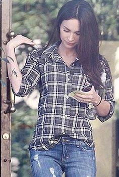 Rails Devyn Shirt In Olive worn by Megan Fox