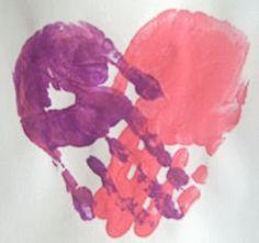 The Activity Mom: Baby Activity - Valentine Handprint Keepsakes
