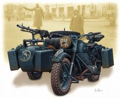 German WWII motorcycle w/sidecar