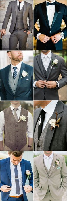 Wedding Suits 36 Groom Suit That Express Your Unique Styles and Personalities! - For so long the grooms have been too traditional with their wedding attire, while in 2017 you might see some difference in the groom attire or groom suits. Groom Wear, Groom Outfit, Groom Attire, Groomsman Attire, Wedding Tux, Trendy Wedding, Wedding Ideas, Men Wedding Attire, Wedding Suits 2018