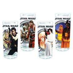 Star Wars 10-Ounce 4-Piece Glass Set | Geek Armory