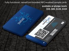 Business cards just got smarter with swivelCard. At the outset, they look like typical cards. But fold it in half and push the tab at the bottom out, and it