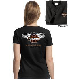 'In Jesus' Name I Ride - Women's Christian Shirt'