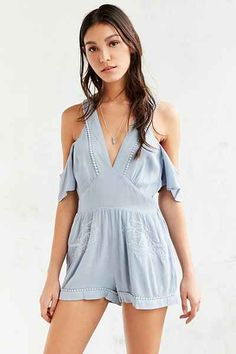 66f2d40a00e MINKPINK Spirited Away Cold Shoulder Romper Weather Wear