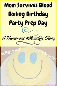 Every has had a crazy chaotic birthday party prep day for their kid, if you haven't yet, it's comin'! Join me as I recount my insane birthday party momlife prep day for entertainment and some laughs!!