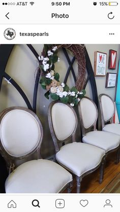 Reminds me of grandmother and granddaddys chairs Dining Chairs, Farmhouse, Furniture, Home Decor, Decoration Home, Room Decor, Dining Chair, Home Furnishings, Home Interior Design