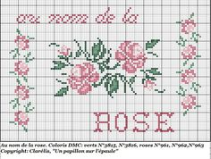 On behalf of the Rose Cross Stitch Letters, Cross Stitch Heart, Cross Stitch Borders, Cross Stitch Flowers, Bordados E Cia, Le Point, Embroidered Flowers, Cross Stitch Embroidery, Stitch Patterns