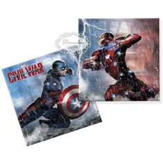 Captain America Civil War. servietter. 20 stk - børnefødselsdag - borddækning - bordpynt - inspiration - diy Superman, Batman, Captain America Civil War, Video Game, Baseball Cards, Film, Artwork, Movies, Movie Posters