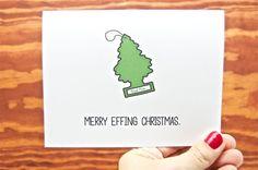 Funny Christmas Card - Merry Effing Christmas via Etsy