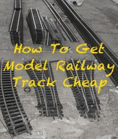 How to get model railway track cheap. Don& waste money on track for your mo. N Scale Model Trains, Model Train Layouts, Scale Models, Escala Ho, Model Railway Track Plans, Garden Railroad, Model Training, Cheap Hobbies, Hobby Trains