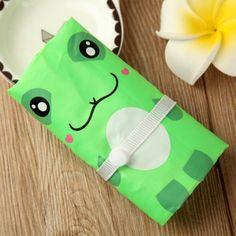 High Quality Portable Handbag Cute Green Frog Shopping Bag Tote Eco Storage Bag