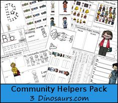 Free Community Helpers Pack for ages 2 to 10. Over 190 pages plus 49 page Tot Pack.