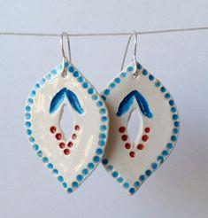 Handmade ceramic earrings by Fulton & Co.