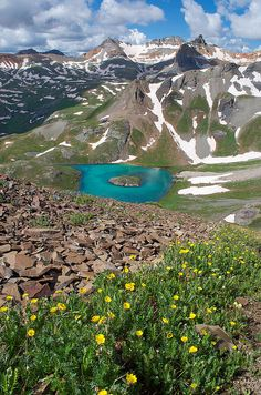 Island Lake - Ice Lakes Basin, Colorado by Aaron Spong http://aaron-spong.artistwebsites.com/featured/island-lake-view-aaron-spong.html