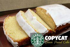 Copycat Starbucks Lemon Pound Cake -