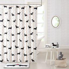East Urban Home Cotton Printed Shower Curtain