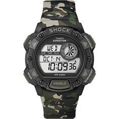 Women's Wrist Watches - Timex T49976 Expedition Base Shock Chrono Alarm Timer Watch  Camo >>> Be sure to check out this awesome product.