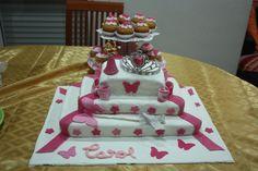 bolo do aniversario da Caro ( atelie  O cantinho da Isabel)