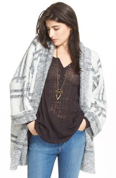 Free People Windowpane Plaid Cardigan Jacket available at #Nordstrom