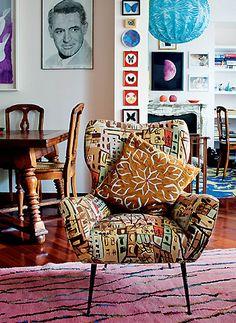 print chair | Keltainen talo rannalla