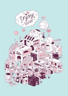 Enjoy yourself! by 3LAND , via Behance