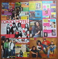 TOKIO HOTEL - Bill Kaulitz Tom Posters Articles Clippings | eBay