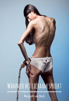 Op deze afbeelding is een meisje te zien die in strijd is met haar eigen lichaam. Je ziet een heel dun meisje. Ze lijdt zo te zien aan anorexia. 2. Om het beeld van strijd te benadrukken is er een handboeien afgebeeld waar ze aan vast zit. Ook is het lichaam naakt afgebeeld waardoor je direct ziet waar het om gaat.