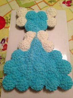 Cinderella dress cupcake cake made by me!