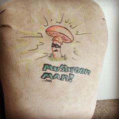 Mushroom-Man!!!! I made this on a lazyboy in some guys living room lol.  http://www.thugnastyart.com/ #thugnastyart #zork