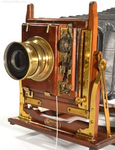 Antiques Atlas - Eagle 1/2 Plate Brass And Mahogany Camera #cameralens