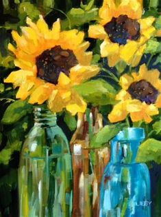 """Daily Paintworks - """"Special Occasion"""" - Original Fine Art for Sale - © Libby Anderson"""