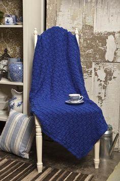 Free Knitting Pattern - Afghans & Blankets: Checkerboard Blanket
