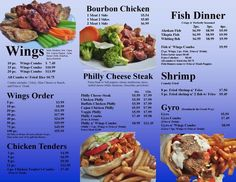 Page 1 or our Delicious Menu at Philly Wings N Things