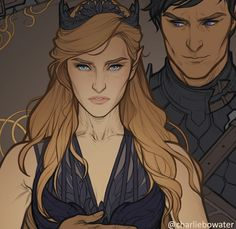 Feyre & Rhysand By Charlie Bowater A Court Of Wings And Ruin, A Court Of Mist And Fury, Character Inspiration, Character Art, Character Design, Book Characters, Fantasy Characters, Feyre And Rhysand, Sarah J Maas Books