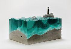 [a!艺术新玩法]凝固的海浪。来自新西兰艺术家 Ben Young的作品。#glass