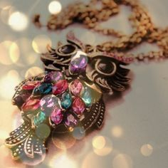 Owl necklace.