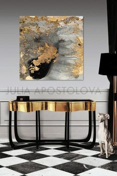 Up to Gray Gold and Black, Watercolor Print, Goldleaf, Large Abstract Wall Art for Modern Interiors, XXL Canvas Painting by Julia Bis zu Grau Gold und Schwarz Aquarell Druck Large Abstract Wall Art, Watercolor Paintings Abstract, Contemporary Abstract Art, Large Wall Art, Contemporary Decor, Art Paintings, Watercolor Print, Abstract Print, Art Print