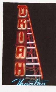 Ukiah California theatre sign 1990 by KenBrownsphotos, via Flickr
