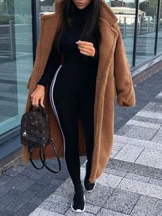 51 Oversized Wool Coat Outfit and Boots for Winter Casual Fashion. Winter Fashion Outfits, Look Fashion, Fall Outfits, Womens Fashion, Brown Fashion, Cheap Fashion, Winter Outfits Women 20s, Trendy Fashion, Winter Outfits Tumblr