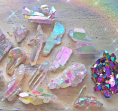 Iridescent Crystals | Pastel Colors | Gemstone Collection | Sun Glare | Opalescent
