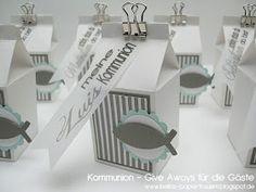 Für die Gäste auf der Feier gab es noch diese kleinen Päckchen - als Give Away....        Und diese Danke-Kärtchen habe ich gemacht . . . di...