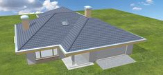 Projekt domu Uroczy 146,47 m2 - koszt budowy 254 tys. zł - EXTRADOM Picnic Blanket, Outdoor Blanket, Roof Plan, Construction, Albums, House, Building Homes, Home Plans, Home
