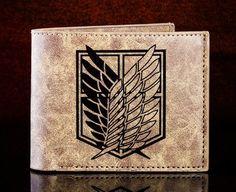Shingeki no Kyojin/ Attack on Titan Scouting Legion emblem logo wallet - Fanraro.com