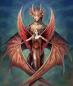 Girls and Dragons Art - Girl with Dragon - Dragon Slayers