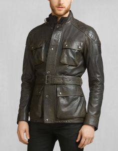 A lightweight leather jacket part of the James Hunt collection. Shop the James Hunt Monaco Jacket from Belstaff US. Biker Leather, Leather Men, Black Leather, Leather Jackets, James Hunt, Belstaff, Piece Of Clothing, Men's Clothing, Luxury Branding