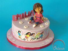 Dora And Friends, Friends Cake, Dora Cake, City Cake, Fondant, Cake Decorating, Birthday Cake, Cake Ideas, Party