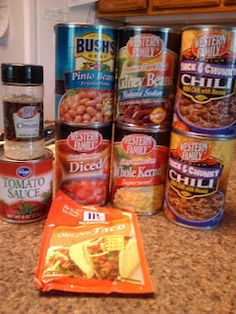 Taco Soup - great beginner dish for the Dutch Oven.- or a quick and easy meal for dinner in the Crock pot.