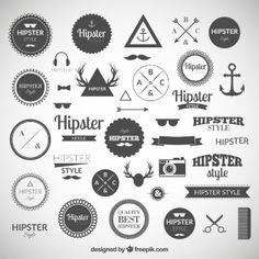 la collecte des logos de Hipster