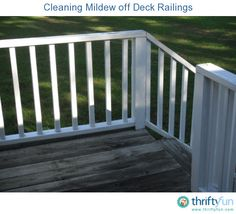 Our deck is on the north side of the house and the railings get a buildup of moss and mildew during the warm humid months. To keep them white, I have to clean them about twice a year, once during late summer and then again after it turns cold.