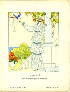 Le Bel Été - Robe de lingerie pour la campagne [The lovely summertime -- Linen dress for the country] | Flickr - Photo Sharing!